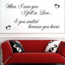 When I Saw You I Fell In Love ~ Wall sticker / decals
